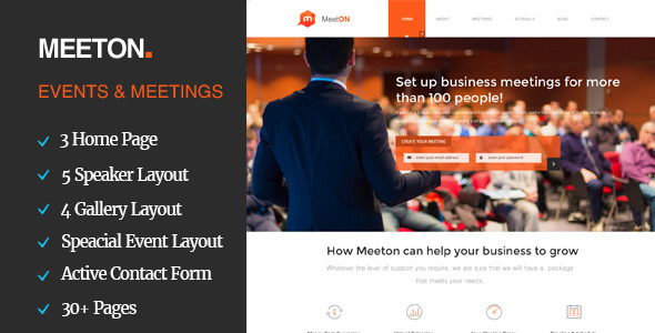 Meeton - Conference & Event WordPress Theme