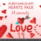 Plasticine (Clay) Hearts Pack - VideoHive Item for Sale