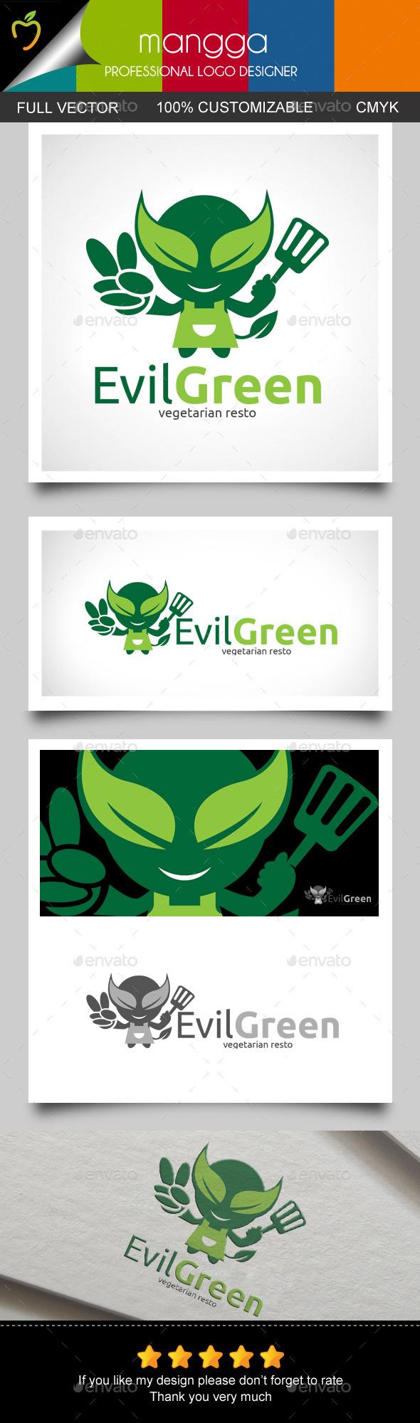 Evil Green Logo - Letters Logo Templates