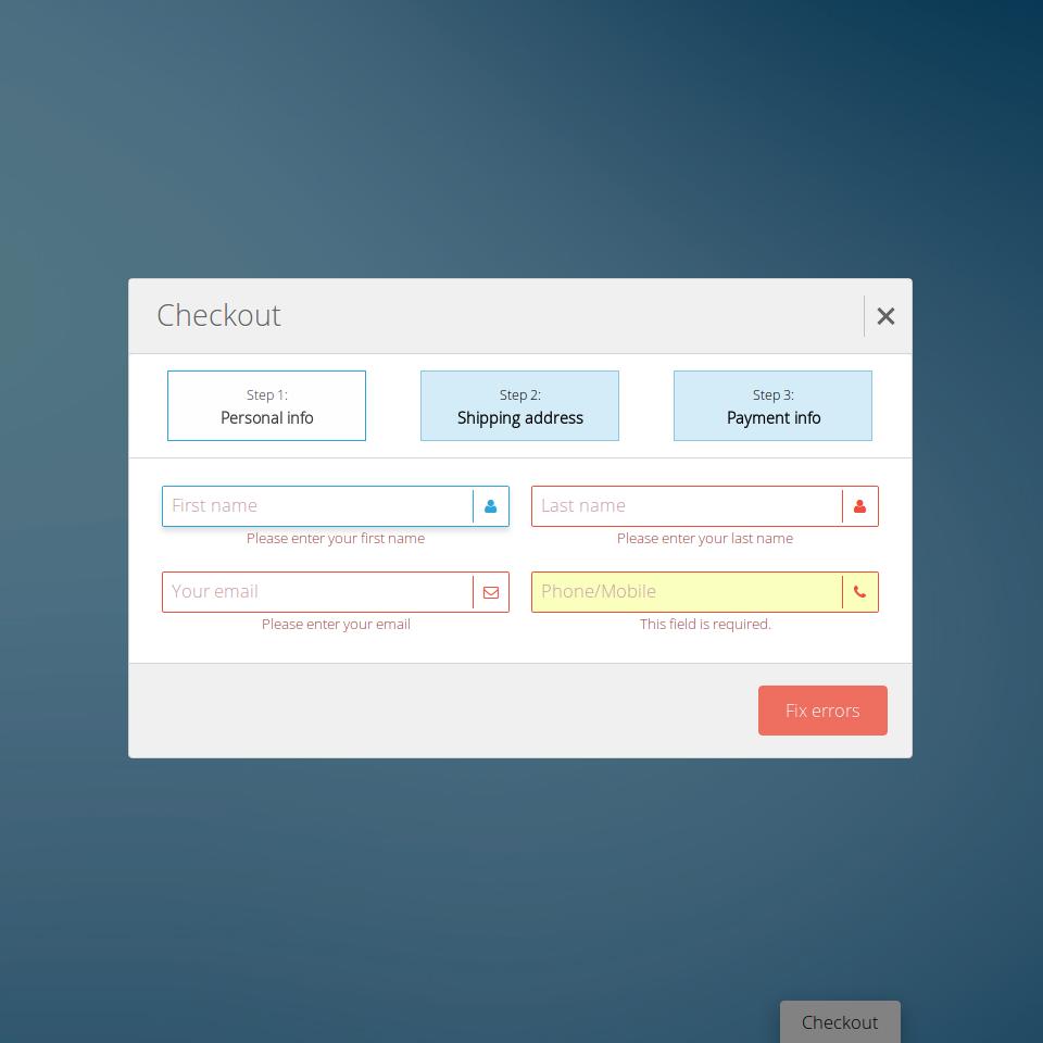 Classic Forms Full - Responsive Form Framework