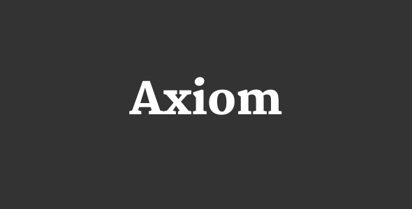 Axiom – Creative Portfolio Layers WP Child Theme