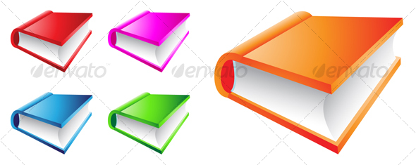 colorful books - Man-made Objects Objects