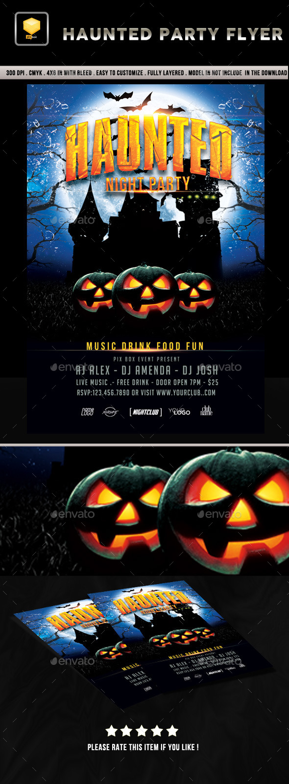 Haunted Party Flyer - Clubs & Parties Events