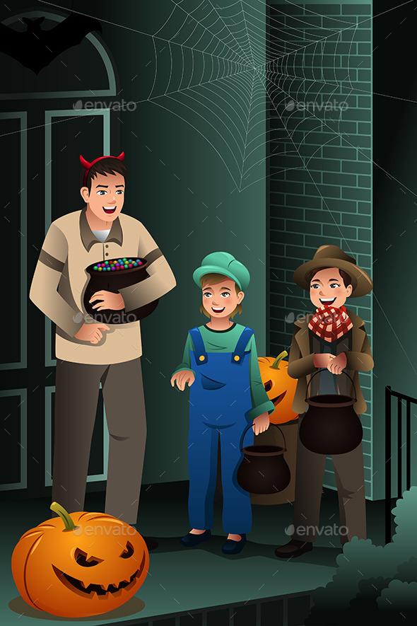 Little Kids Wearing Halloween Costumes - Halloween Seasons/Holidays