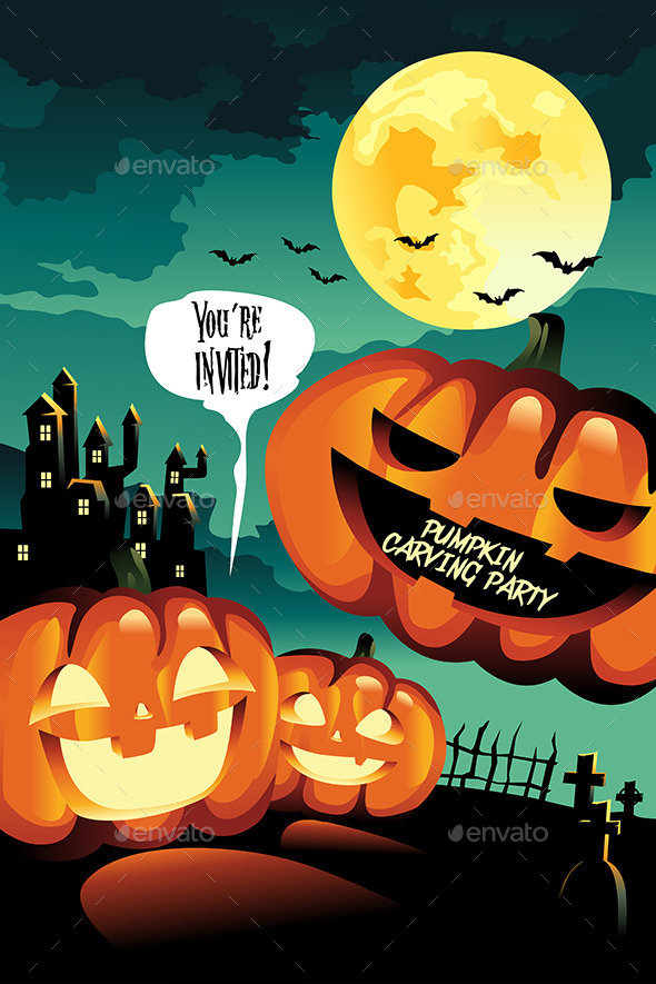 Halloween Carving Party Background - Halloween Seasons/Holidays