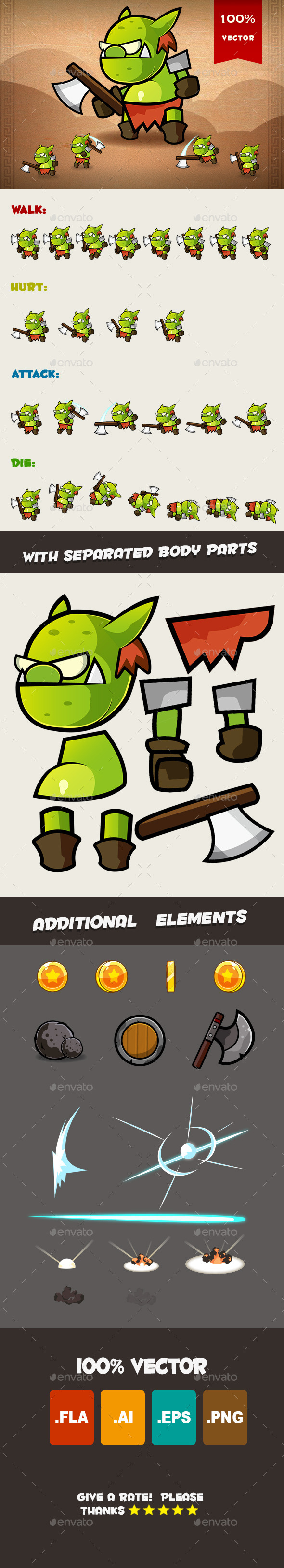 Goblin Spritesheet - Sprites Game Assets