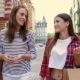 Beautiful Girls With Shopping Bags In City - VideoHive Item for Sale