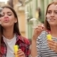 Beautiful Young Girls Blowing Bubble Outdoor - VideoHive Item for Sale