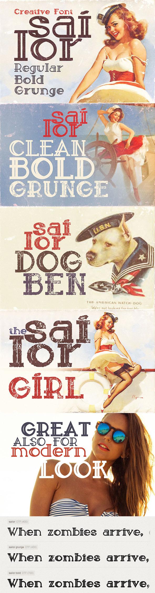 Sailor Font - Serif Fonts