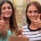 Shopaholic Girlfriend Show The Thumbs Up - VideoHive Item for Sale