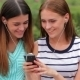 Two Attractive Girls Listening To Music - VideoHive Item for Sale