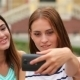 Smiling Girls Taking Selfie With Smartphone Camera - VideoHive Item for Sale