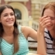 Portrait Of Pretty Young Laughing Girlfriends - VideoHive Item for Sale