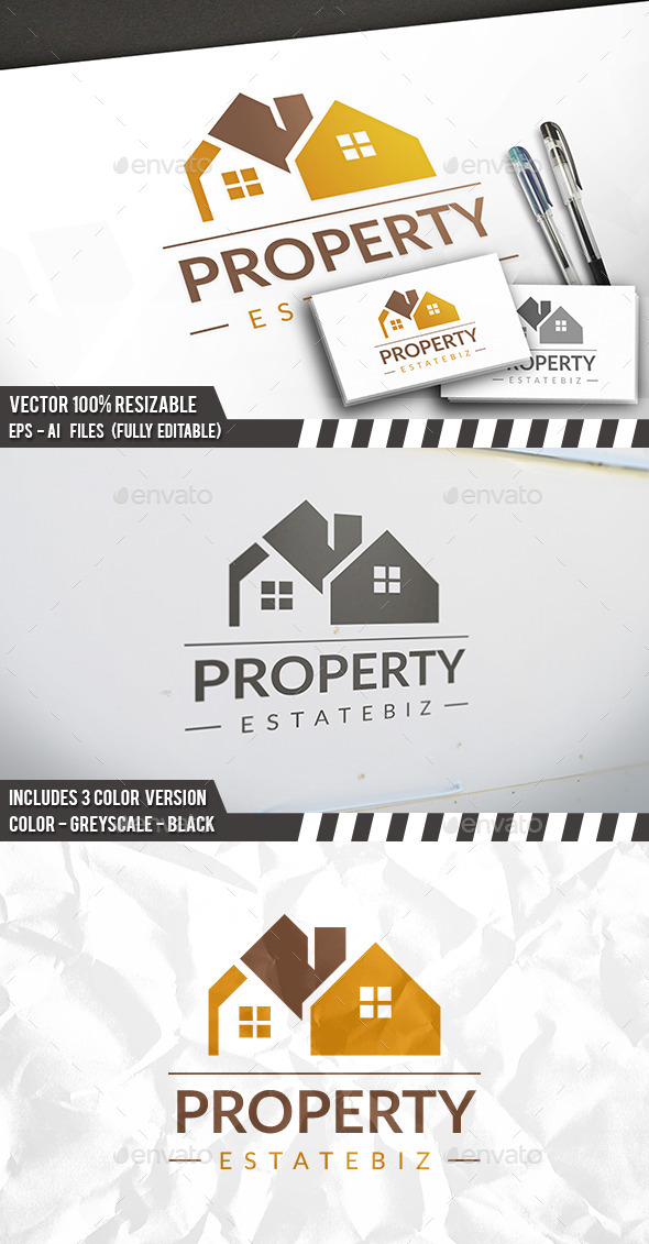 Property Modern Logo - Buildings Logo Templates