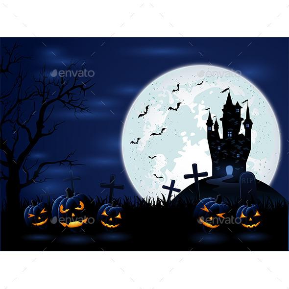 Dark Halloween Night - Halloween Seasons/Holidays