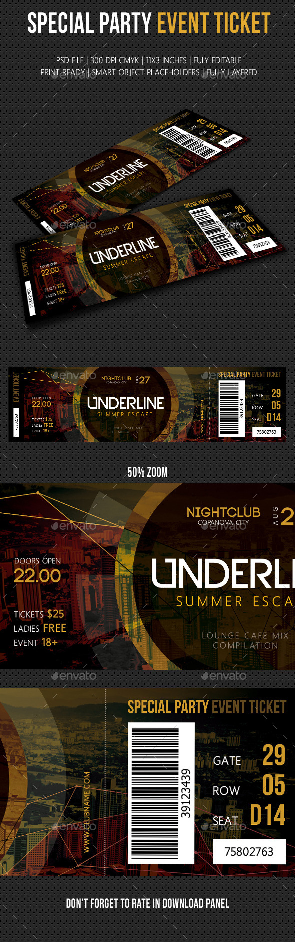 Special Party Event Ticket V08