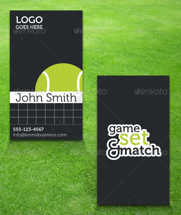 Tennis Business Card - Creative Business Cards