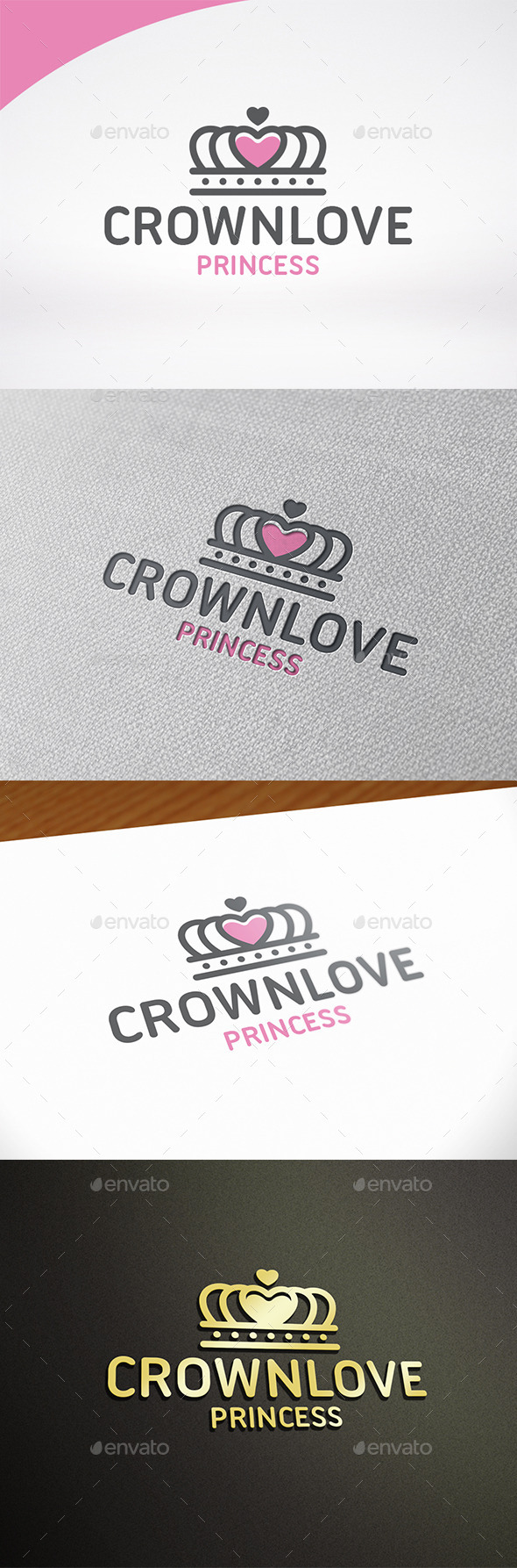 Crown Love Logo Template