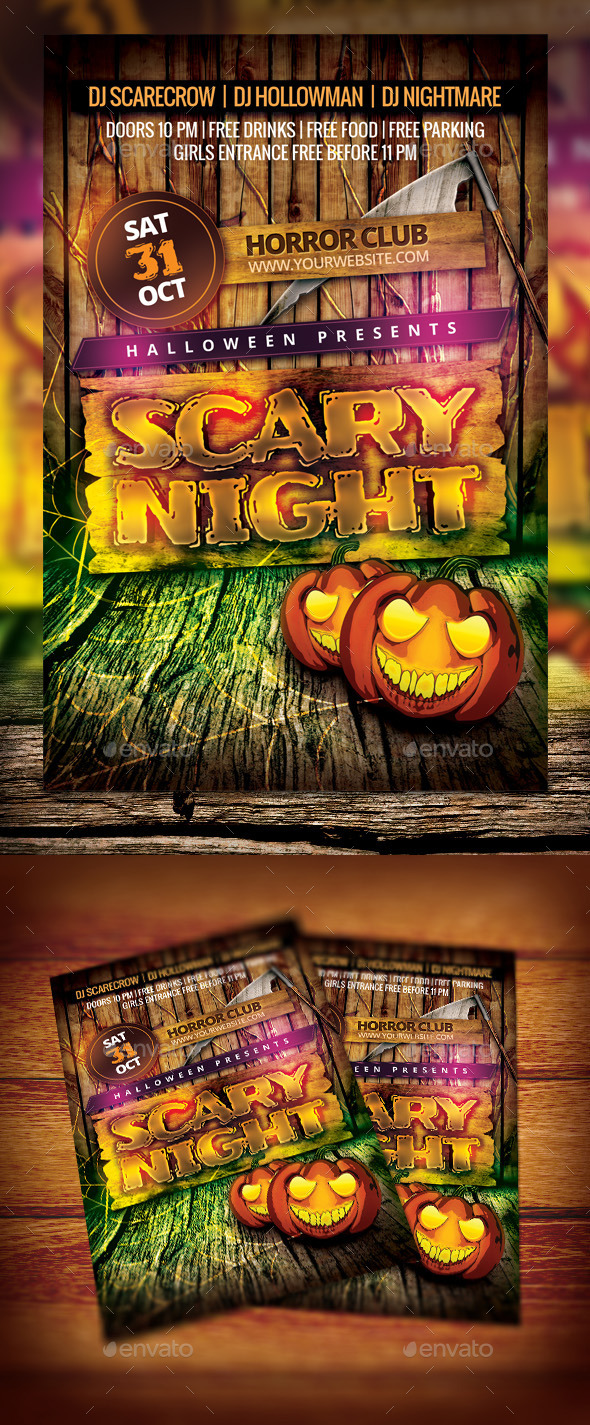 Kids Halloween Night Flyer