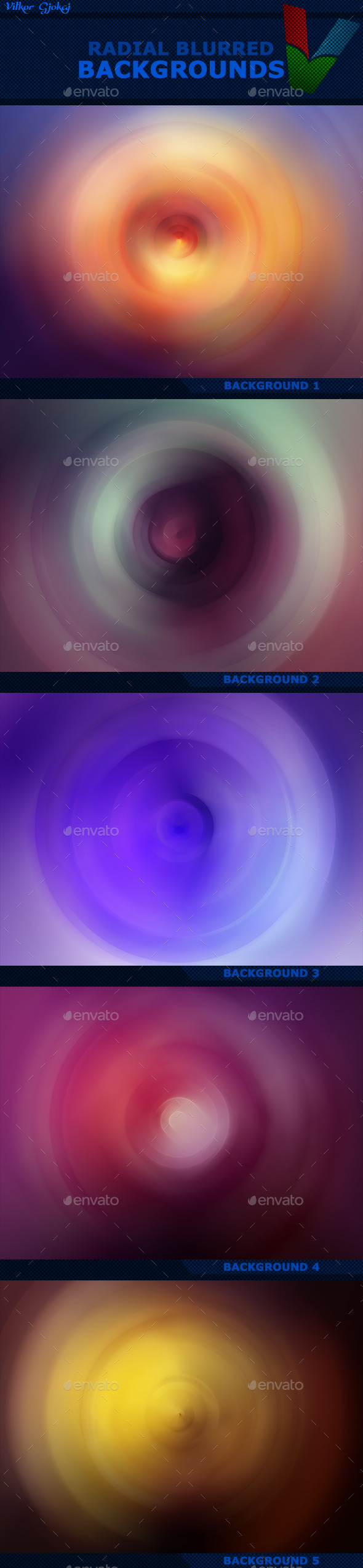Radial Blurred Backgrounds - Abstract Backgrounds