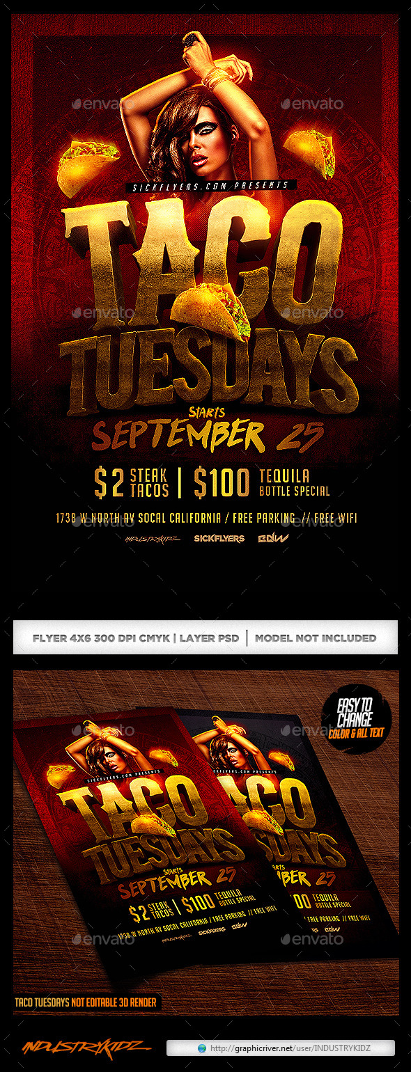 Taco Tuesdays Flyer