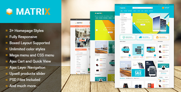 Matrix – Multipurpose Responsive Magento Theme