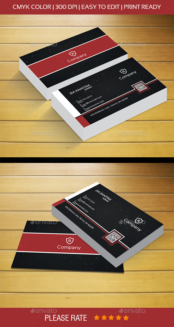 Black Business Card - Corporate Business Cards