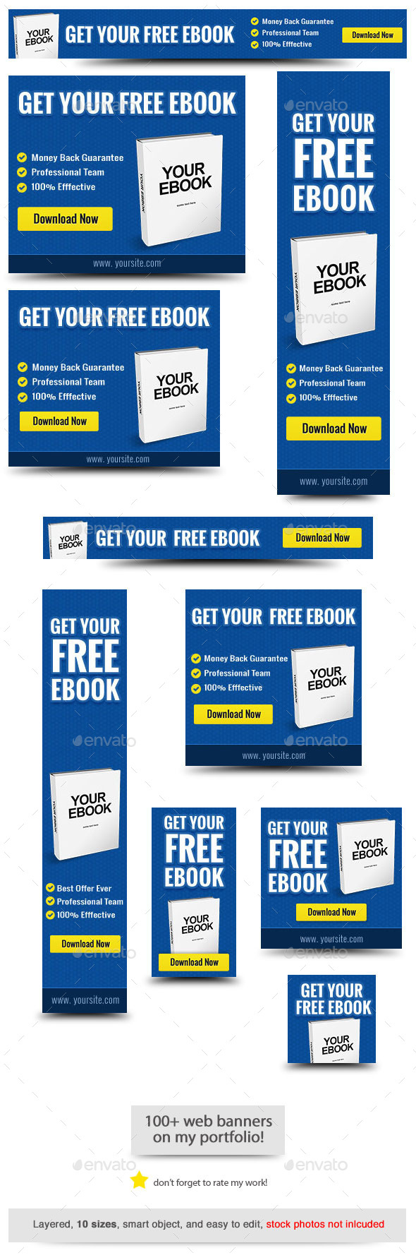 Ebook Web Banner - Banners & Ads Web Elements