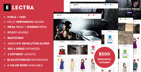 Electra – Advanced Responsive Magento Theme