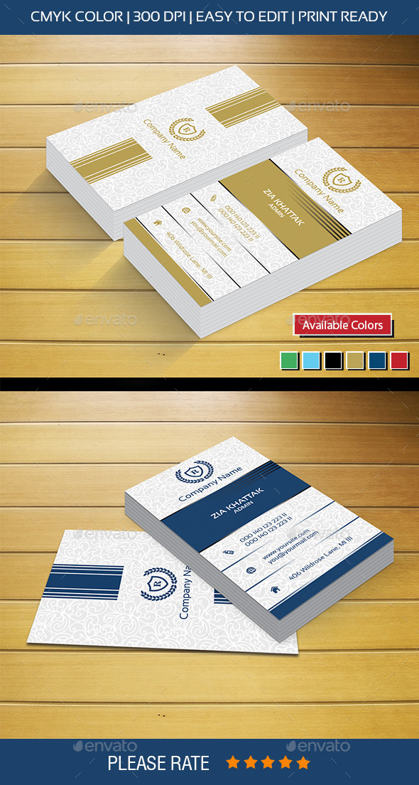 New Golden Business Card