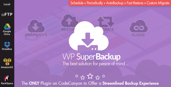 Super Backup & Clone - Migrate for WordPress - CodeCanyon Item for Sale
