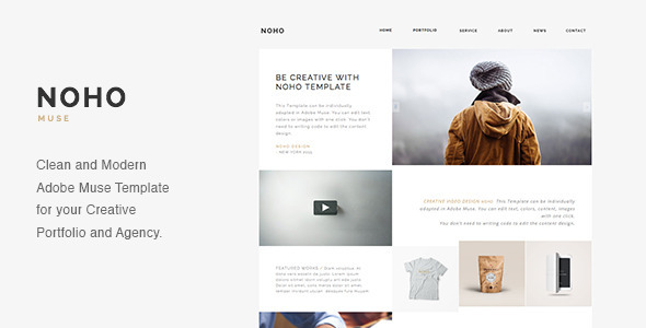 NOHO - Creative Agency Portfolio Muse Template - Creative Muse Templates