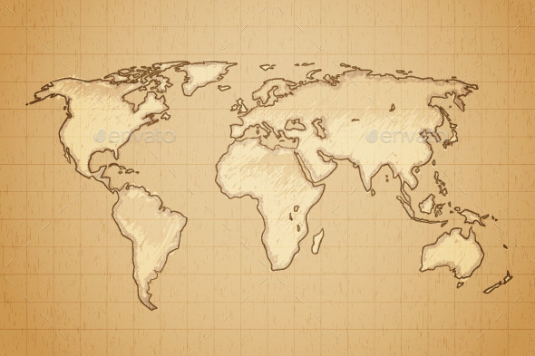 World Map - Travel Conceptual