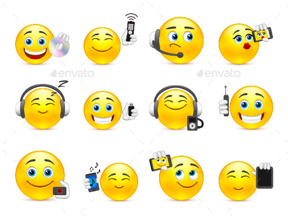 Modern Smilies - Miscellaneous Characters