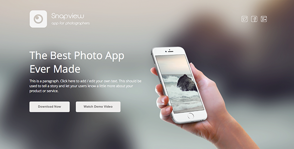 Image of Snapview - Mobile App Landing Template