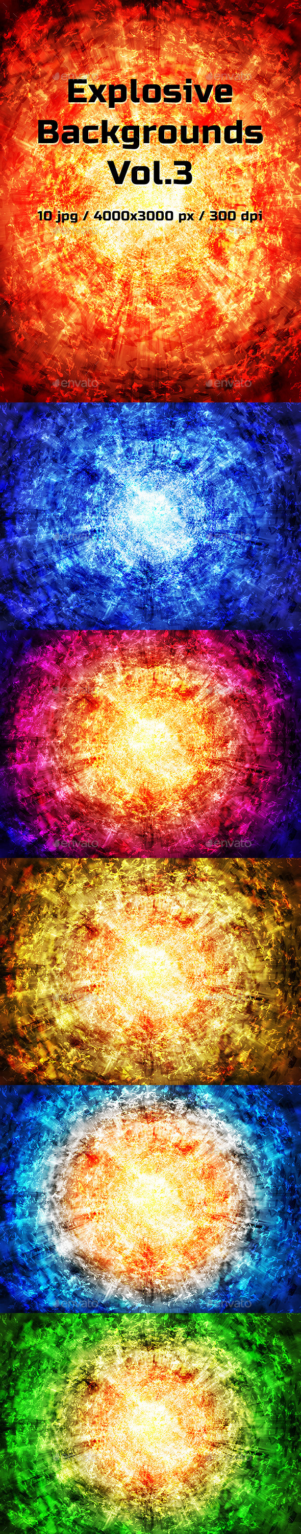Explosive Backgrounds Vol.3 - Abstract Backgrounds