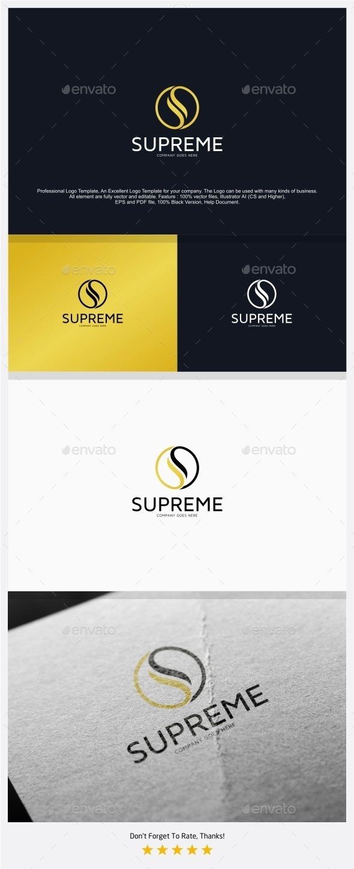 Letter S - Supreme Logo - Letters Logo Templates