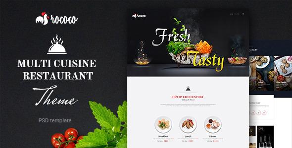 Rococo| Multipurpose Restaurant  PSD Template