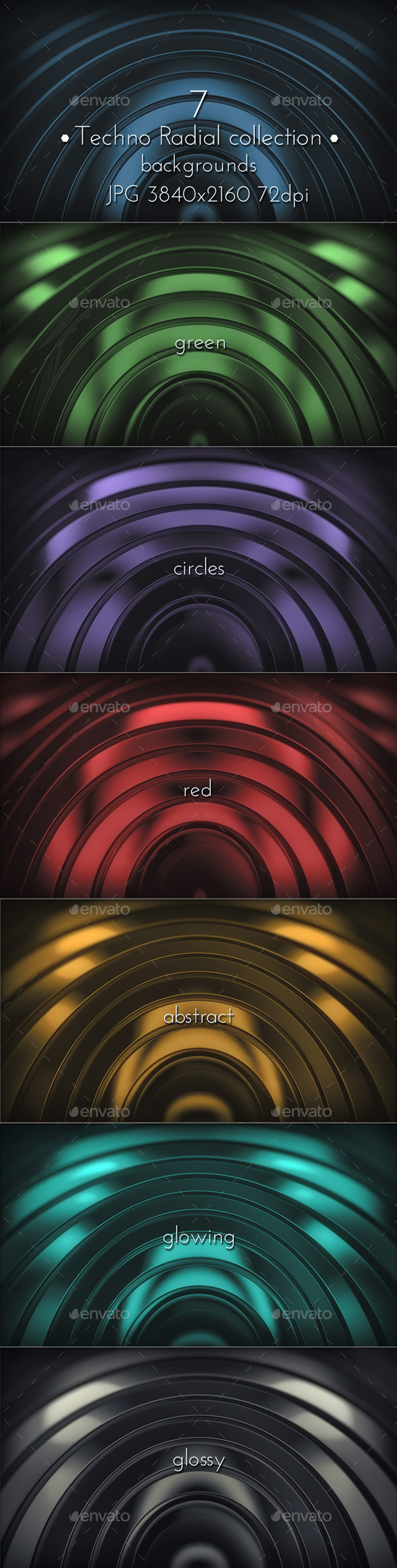 Modern Radial Techno Surface - 3D Backgrounds