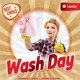 Retro Laundry Day Flyer Template 117 - GraphicRiver Item for Sale