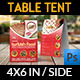 Turkish Restaurant Table Tent Template
