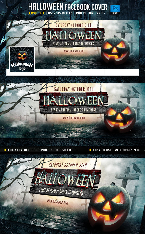 Halloween Facebook Cover v3 - Facebook Timeline Covers Social Media