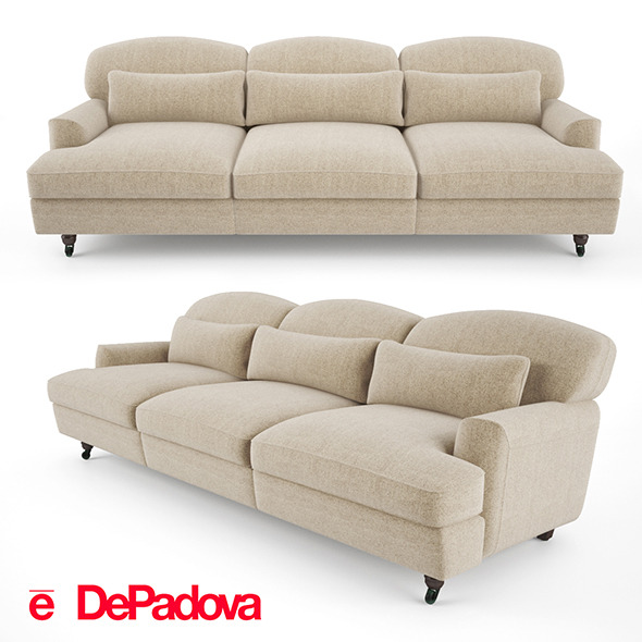 De Padova - Raffles Sofa (three-seater sofa) - 3DOcean Item for Sale