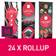 Rollup Stand Banner Display 24x Indesign Template - GraphicRiver Item for Sale