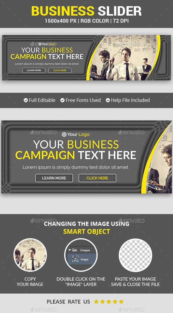 Business Campaign Slider v13 - Sliders & Features Web Elements