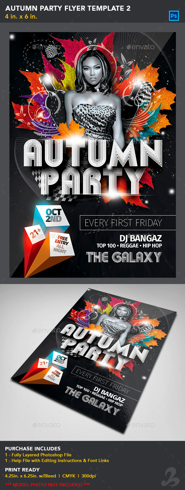 Autumn Party Flyer Template 2