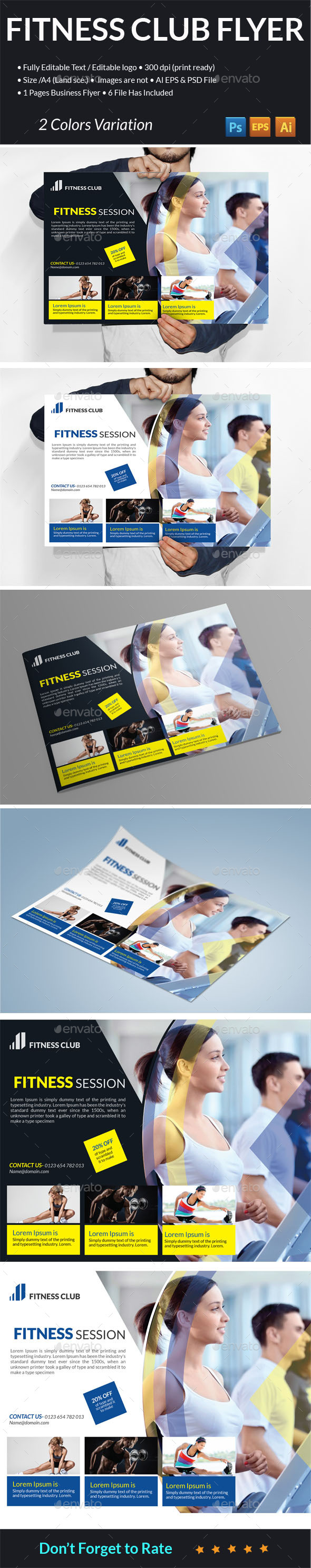 Fitness Club Flyer - Sports Events