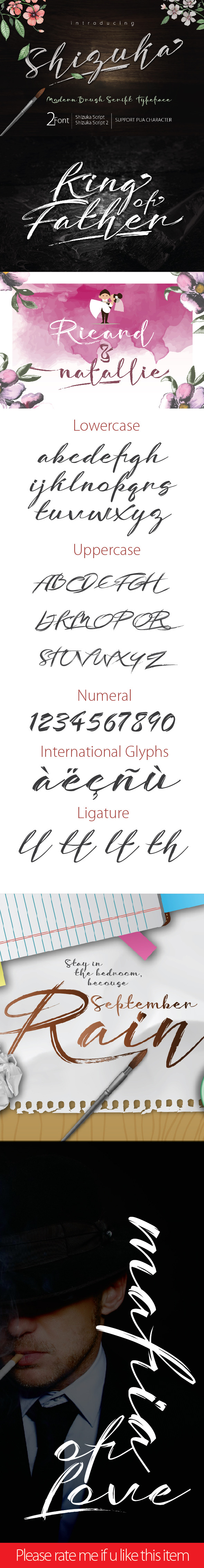 Shizuka script brush - Script Fonts