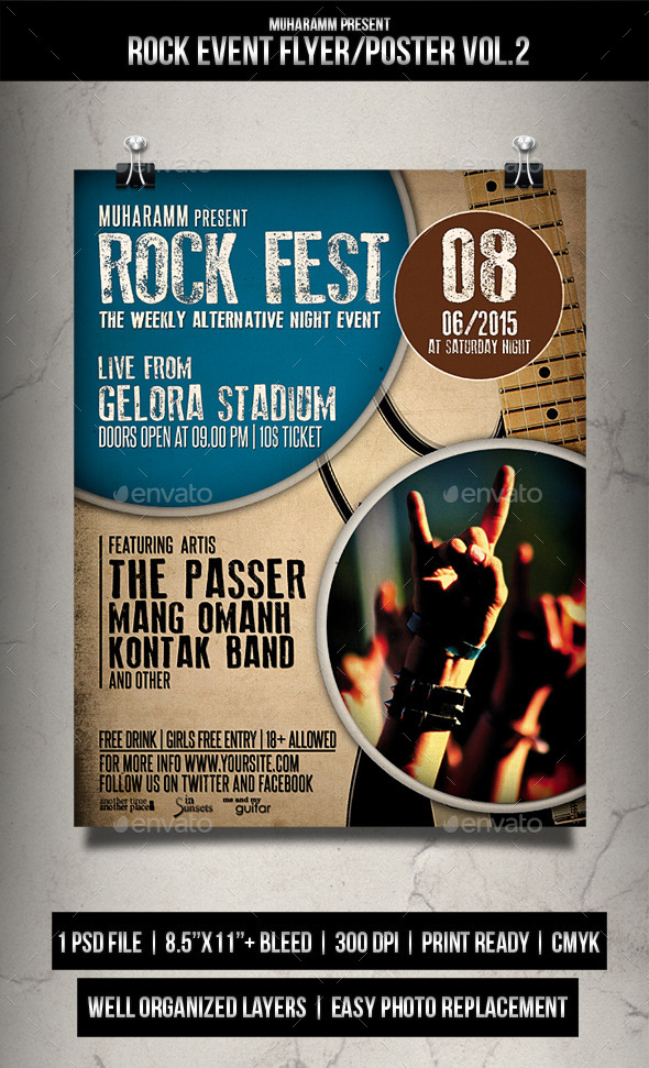 Rock Event Flyer / Poster Vol.2 - Events Flyers
