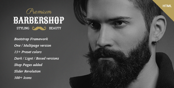 BarberShop - Hair Saloon Spa Tatto HTML Template